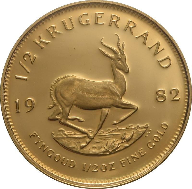1982 Proof Half Ounce Krugerrand Gold Coin