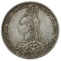 1887 Victoria Silver Shilling - About Uncirculated