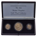 1984 Gold Proof Sovereign Three Coin Set (large) Boxed