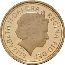2004 Gold Half Sovereign Elizabeth II Fourth Head Proof