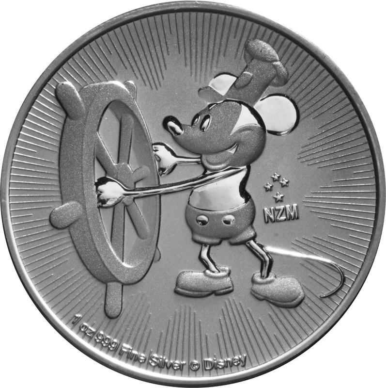 Steamboat Willie 1oz Silver Coin 2017