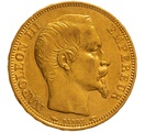 1853 20 French Francs - Napoleon III Bare Head - A