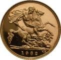 1982 Gold Half Sovereign Elizabeth II Decimal Head Proof