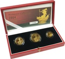 2004 Proof Britannia Gold 3-Coin Set Boxed