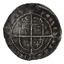 1575 Elizabeth I Silver Threepence - mm Eglantine