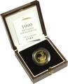 1999 Britannia Quarter Ounce Gold Proof Coin Boxed