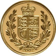 2002 Gold Sovereign - Elizabeth II Fourth Head Proof