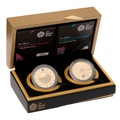 London 2012 Olympic Paralympic Gold Proof £5 two coin set Boxed