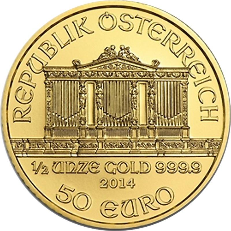 2014 Half Ounce Gold Austrian Philharmonic