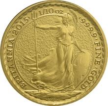 2015 Tenth Ounce Gold Britannia