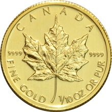 2010 Tenth Ounce Gold Canadian Maple