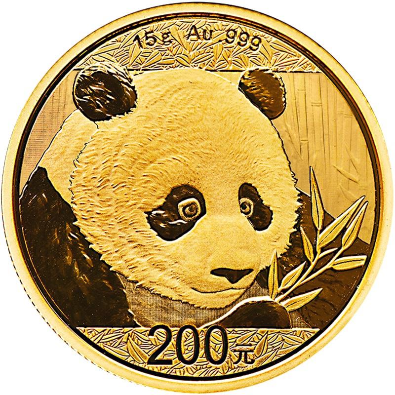 2018 15g Gold Chinese Panda Coin