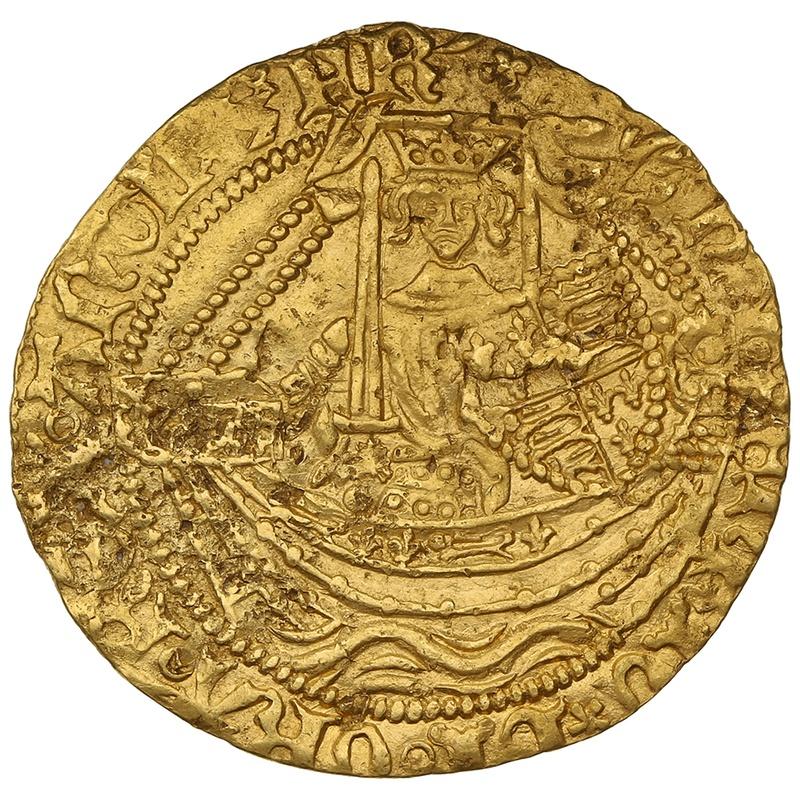 1413-22 Henry V Gold Half Noble Class G