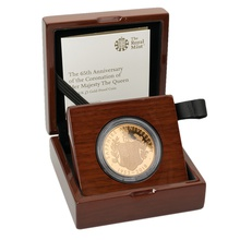 2018 - Gold £5 Proof Crown, 65th Anniversary of the Queen's Coronation Boxed