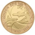 2012 £2 Two Pound Proof Gold Coin: London Rio Olympic Handover Ceremony