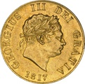 1817 George III Gold Half Sovereign Graded NGC AU53