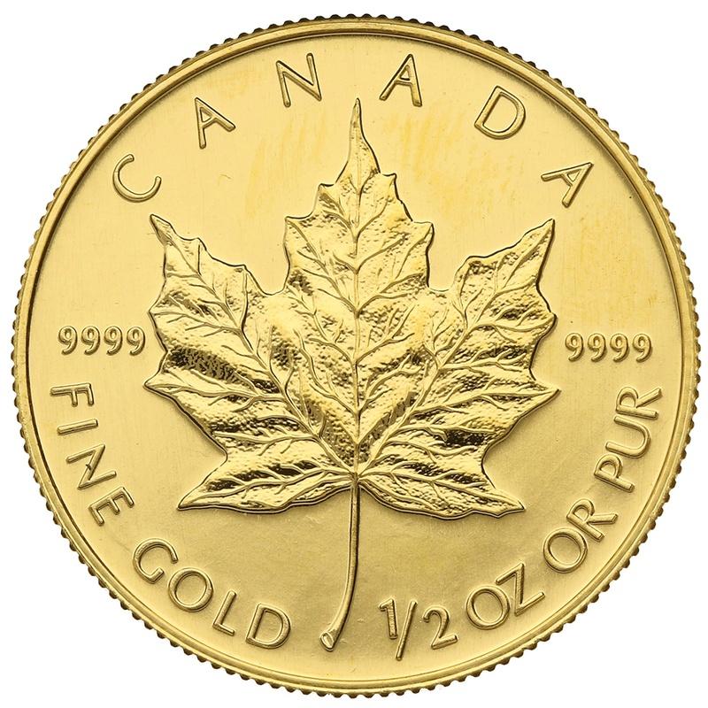 1992 Half Ounce Gold Maple
