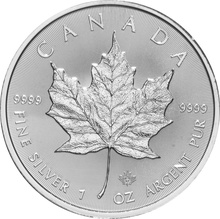 2018 1oz Canadian Maple Silver Coin