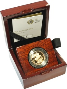 Gold Proof 2016 Sovereign - Butler Effigy Boxed