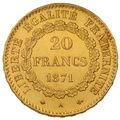 1871 20 French Francs - Guardian Angel - A