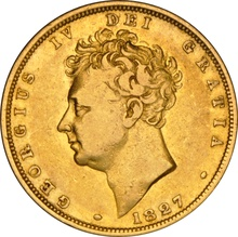 1827 Gold Sovereign - George IV Bare Head NGC VF30