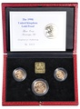 1998 Gold Proof Sovereign Three Coin Set Boxed