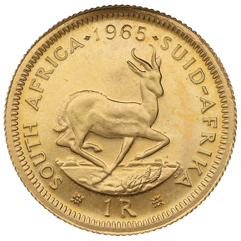 1965 1R 1 Rand coin South Africa