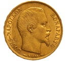 1852 20 French Francs - Napoleon III Bare Head - A