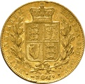 1842 Gold Sovereign - Victoria Young Head Shield Back - London