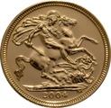 2004 Gold Half Sovereign Elizabeth II Fourth Head
