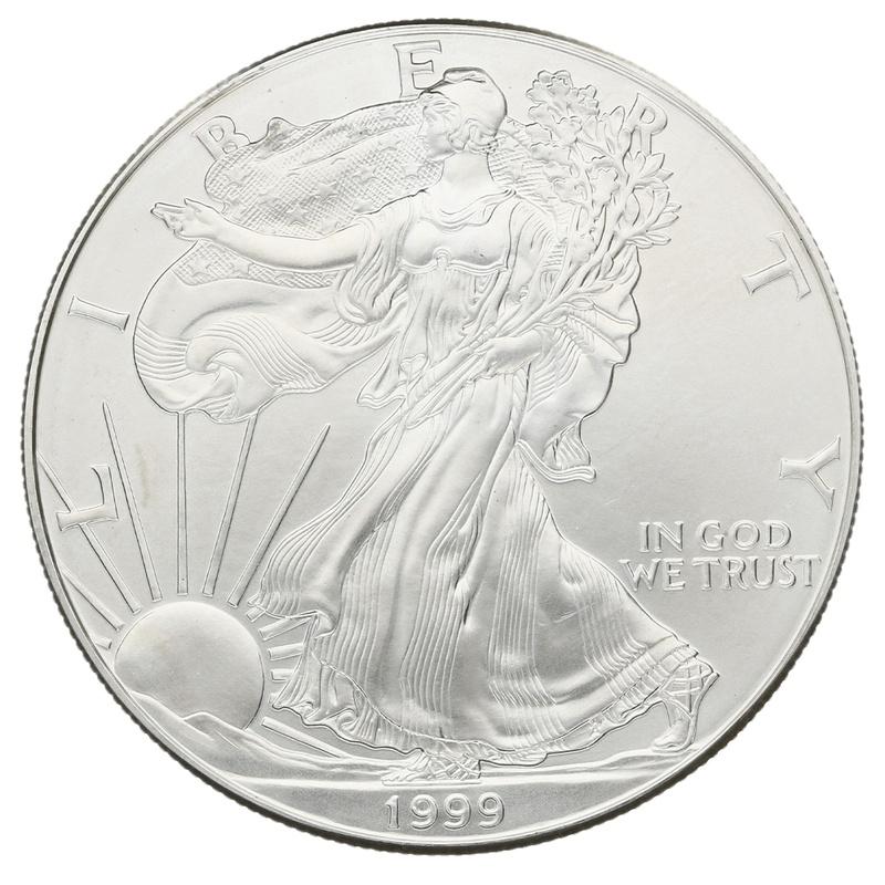 1999 1oz American Eagle Silver Coin