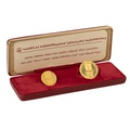 1973 Israel 25th Anniversary Gold Proof 2 coin set boxed