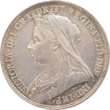 1897 Victoria Old Head Silver Crown