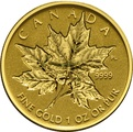 1oz Gold Maple coins - Specific Years