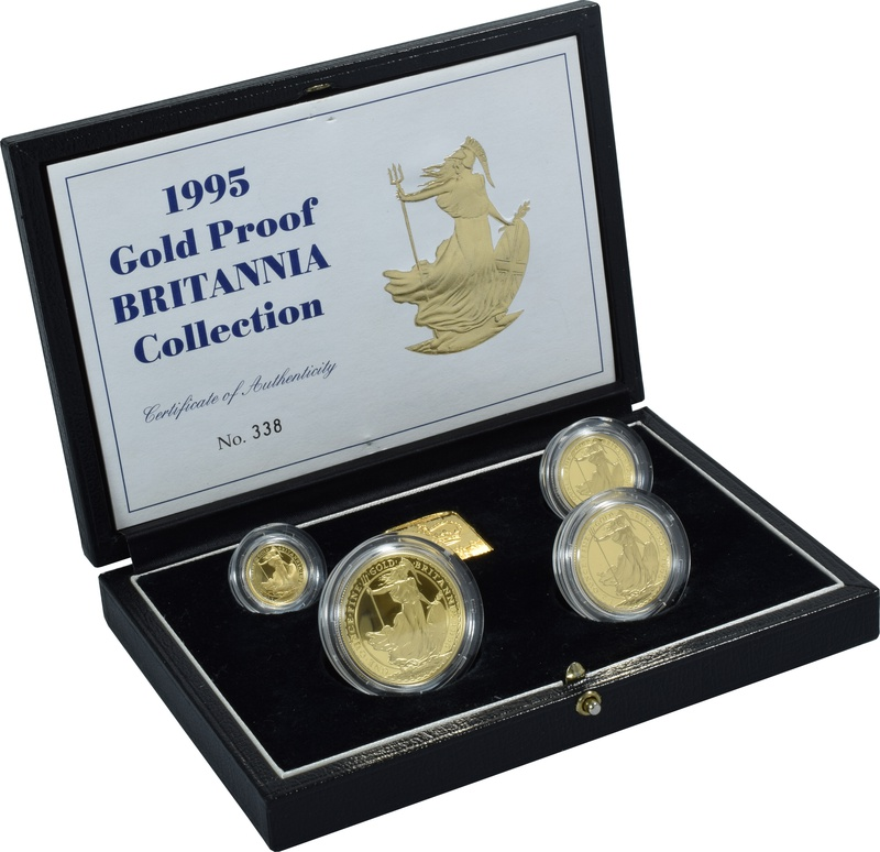 1995 Proof Britannia Gold 4-Coin Set Boxed