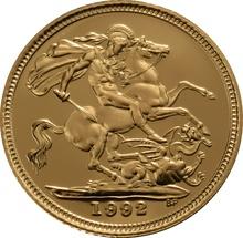 1992 Gold Half Sovereign Elizabeth II Third Head Proof