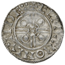 1016-1035 Cnut Hammered Silver Penny Pointed helmet type London Elfgar