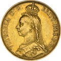 1887 Victoria Jubilee Head Double Sovereign £2 Gold Coin NGC AU55