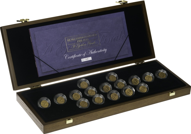 1900 - 1915 Half Sovereign Collection Boxed