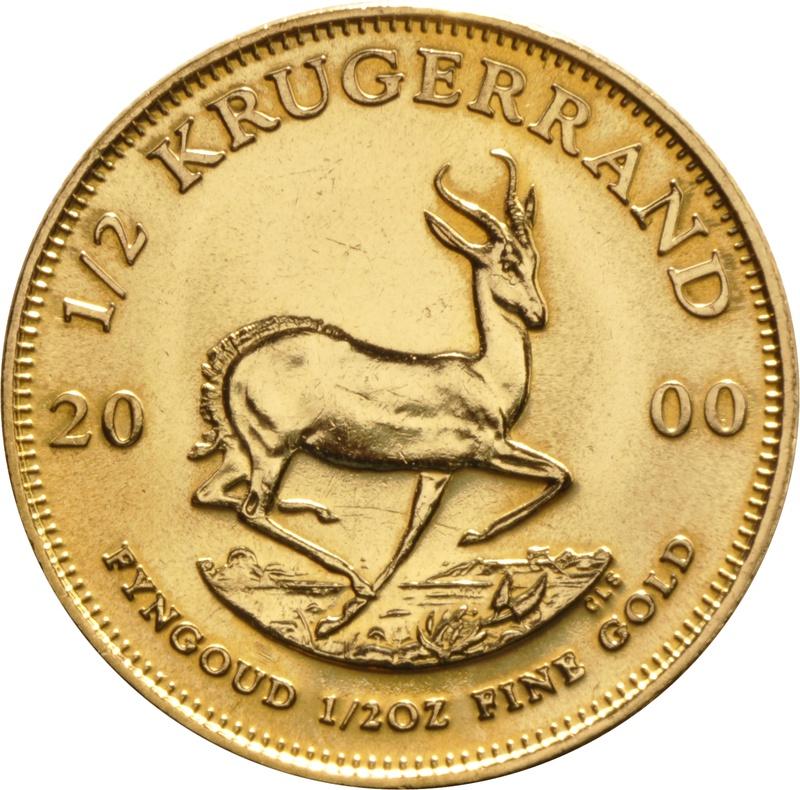 2000 Half Ounce Krugerrand Gold Coin