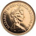 Half Sovereign Elizabeth II Decimal Head 1980 - 1984