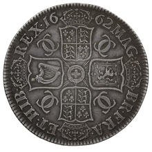 1662 Charles II Silver Milled Crown - Medal alignment