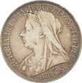1896 Victoria Old Head Silver Crown