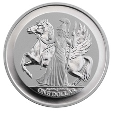 Pegasus 2017 Reverse Proof Silver 1oz Coin Gift Boxed