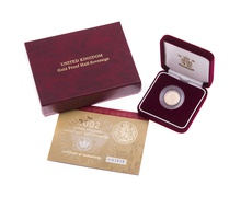 Gold Proof 2002 Half Sovereign Boxed