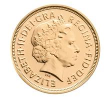 2012 Gold Sovereign Diamond Jubilee Elizabeth II Fourth Head