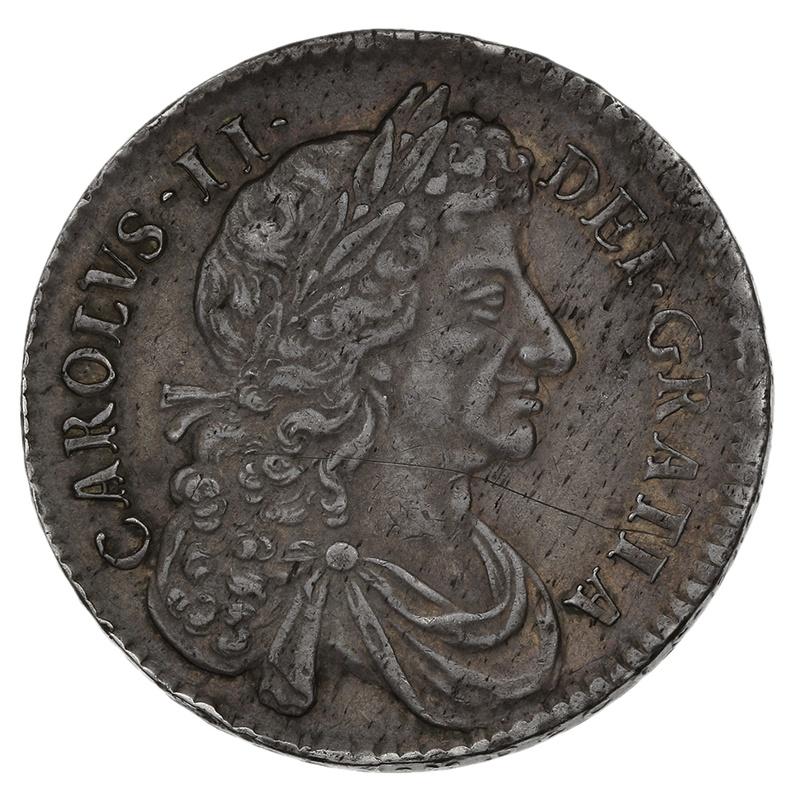 1683 Charles II Half Crown - T QVINTO