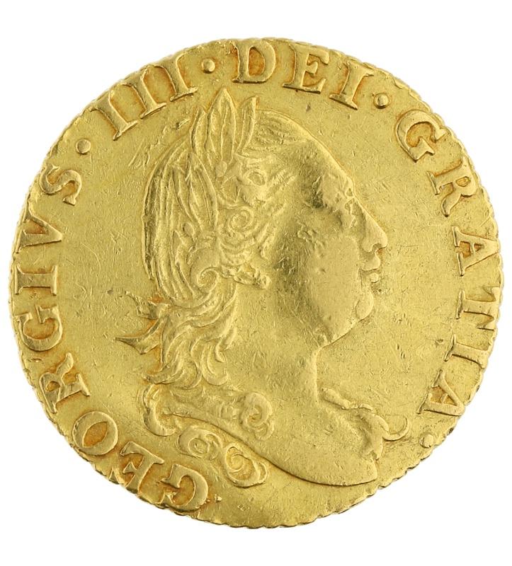 1786 George III Half Guinea Gold Coin