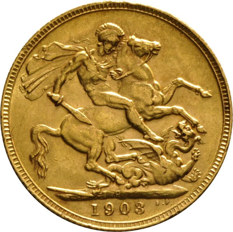 1903 Gold Sovereign - King Edward VII - P