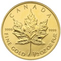 1992 Half Ounce Gold Maple